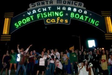 Zombie Crawl Santa Monica Pier Entrance