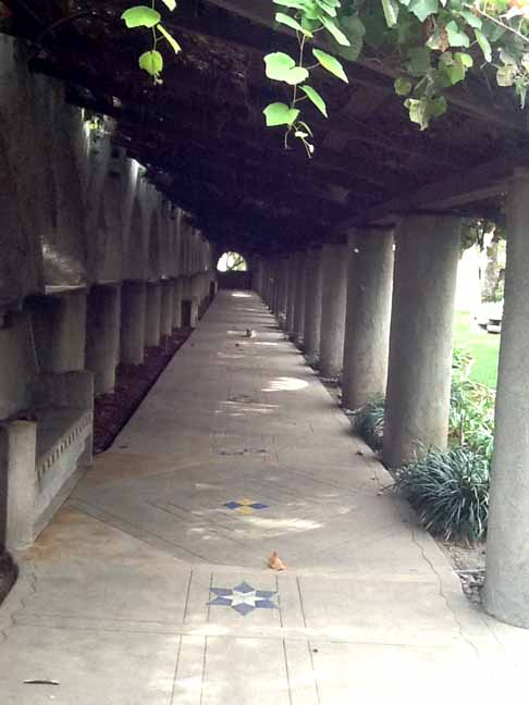 Pathway near the Temple House