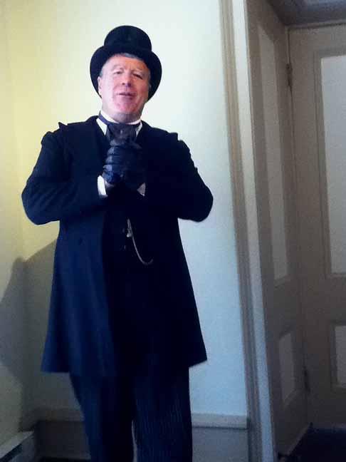 Undertaker inside the Workman House
