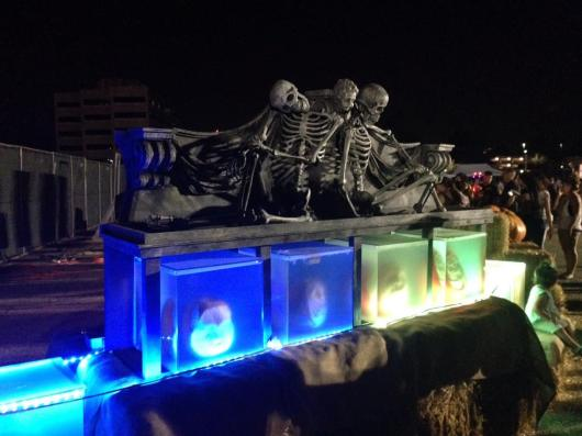 Rise of the Jack O'Lanterns 2015 skeletons and containers