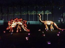 Rise of the Jack O'Lanterns 2015 stegosaurus and brontosaurus
