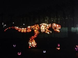 Rise of the Jack O'Lanterns 2015 t-rex 2