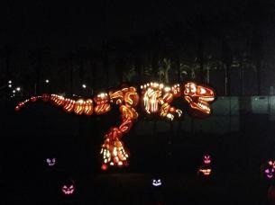 Rise of the Jack O'Lanterns 2015 t-rex 2