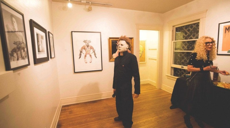 Michael Myers Sugarmynt Gallery's Halloween Exhibition, No Beauty Without Strangeness. Photo by Rebecca Orlandini