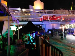 Queen Mary Dark Harbor 2017 Ship in background