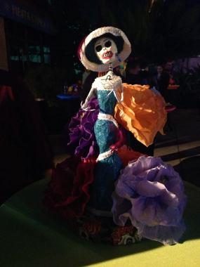 Knotts Scary Farm 2017 press buffet skeleton decoration