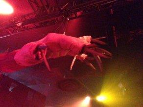 Knotts Scary Farm 2017 Dark Ride giant claw
