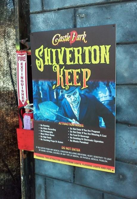 Castle Dark 2017 Shiverton sign