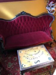 Ouija Board in the Reading Room