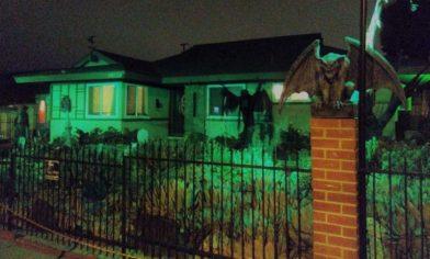 Haunted Rose 2017 front yard gargoyle