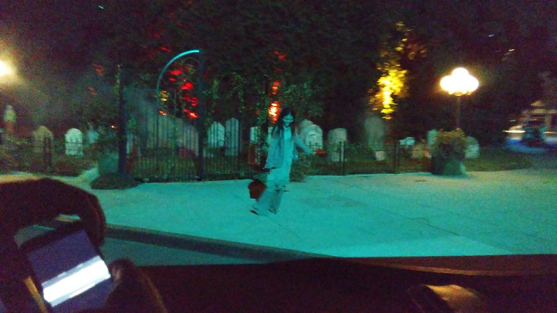 Warner Brothers Studio Tour Horror Made Here 2017 zombie graveyard back lot tram