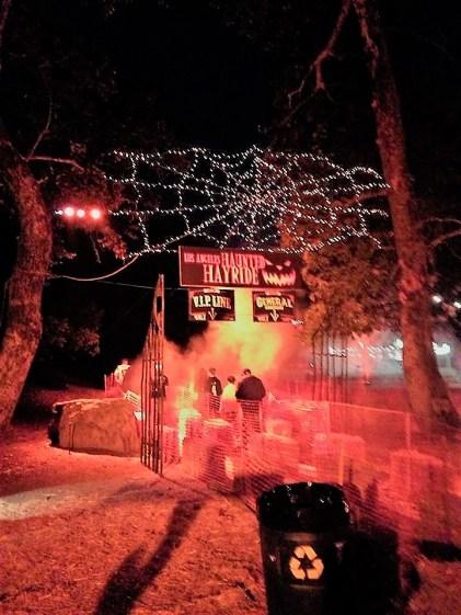 Los Angeles Haunted Hayride 2017 hayride entrance