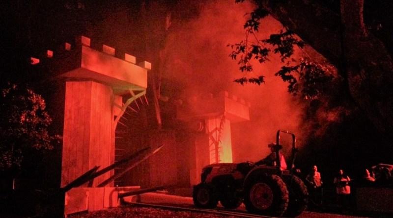 Los Angeles Haunted Hayride 2017 tractor entering gate 2