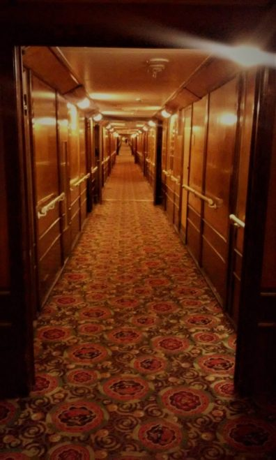 Queen Mary Ghosts & Legends hallway bright