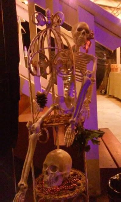 Festive seasonal skeleton