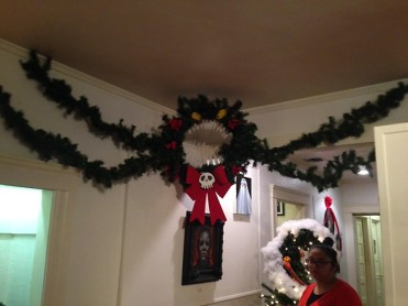 The Nightmare Before Christmas themed wreath