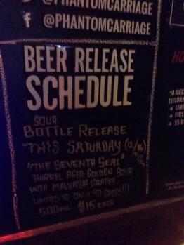 Beer Release Schedule