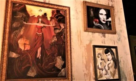 Cauldron paintings closer