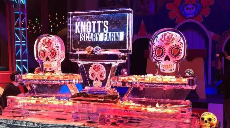 Knotts Scary Farm press night 2018 buffet