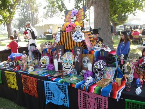 Long Beach Historical Cemetery Tour 2017 Review Day of The Dead altar