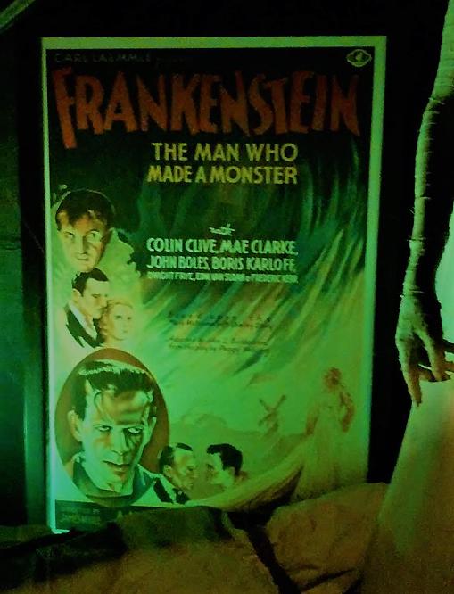 Hollywood Museum Dungeon of Doom Frankenstein poster 1931