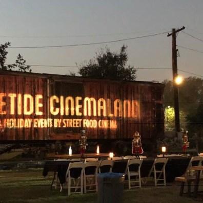 Heritage Square Museum Yuletide Cinema 16 sign