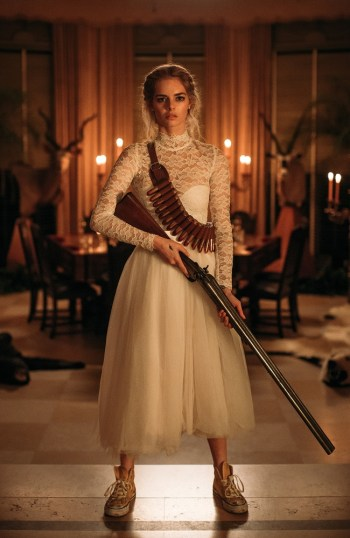 Grace (Samara Weaving) with shotgun
