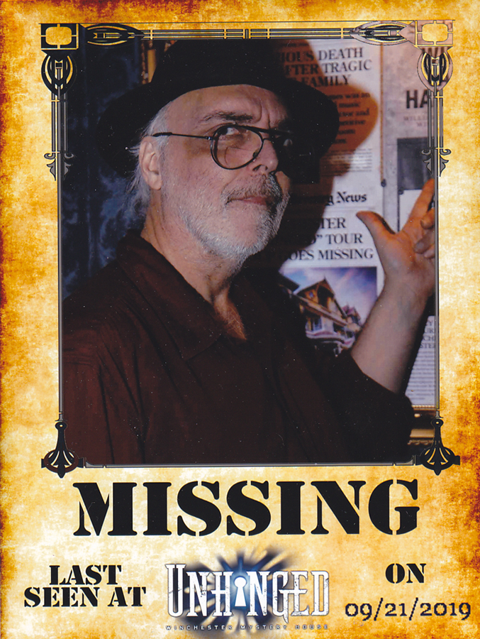 Winchester Mystery House: Unhinged Missing Poster