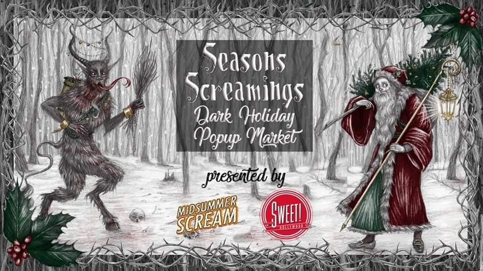 seasons screamings dark holiday popup store
