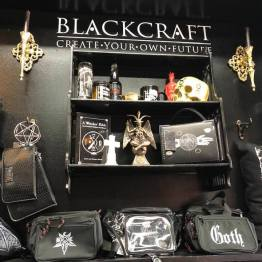 Gothic accessories in the Bearded Lady's Gift Shop