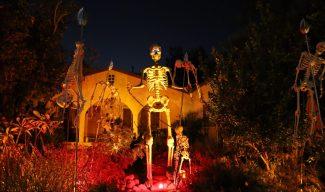 Skeleton King Monrovia yard haunt