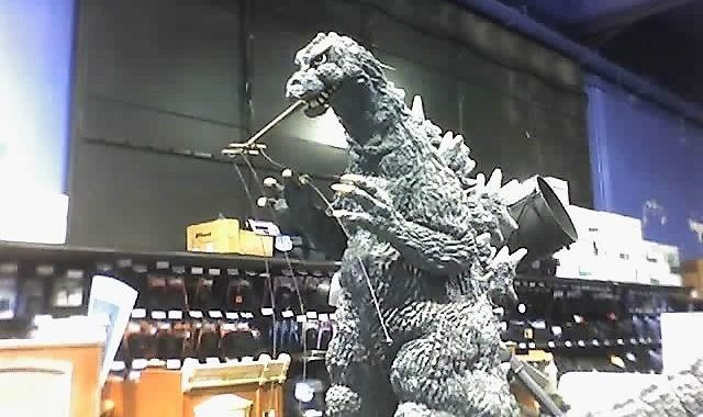 Godzilla at Fry's Electronics in Burbank