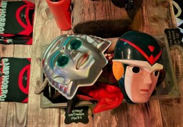 Vintage masks mixed in with Camp Horror