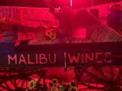Malibu Wines, one of several sponsors unobtrusively visible