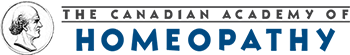 A banner logo of The Canadian Academy of Homeopathy