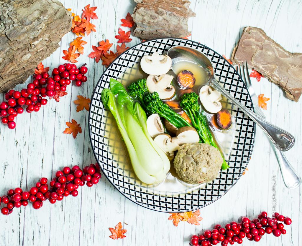 Schnelle Suppe zum Vorbereiten - Asia Suppe mit Fleischbä