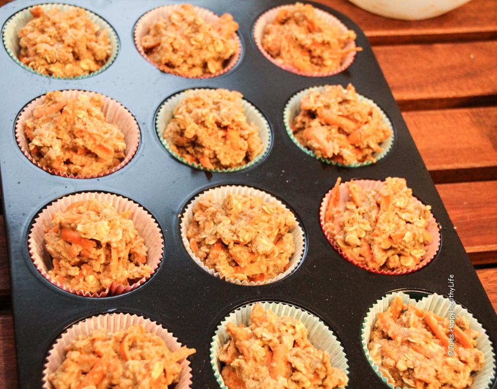 Schnelle, gesunde Karotten Apfel Muffins