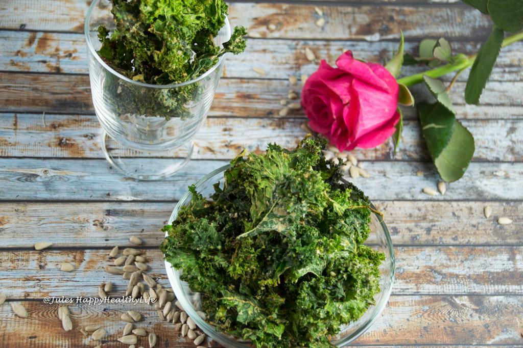 Gesunde Gemüsechips - Vegane Miso Grünkohlchips