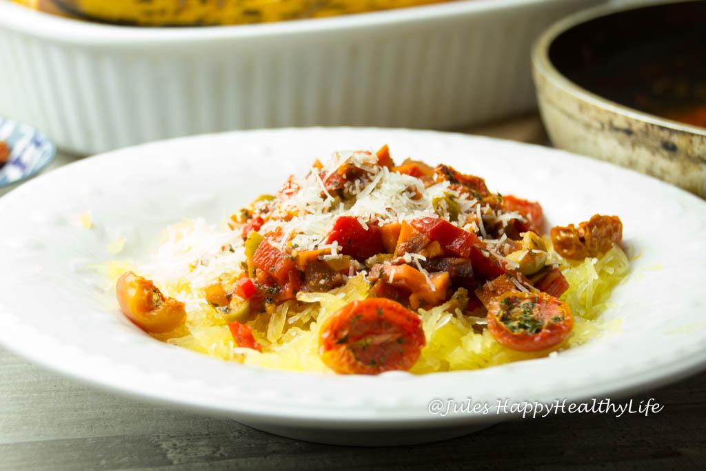 Spaghetti Kürbis mit vegetarischer Bolognese - JulesHappyHealthyLife