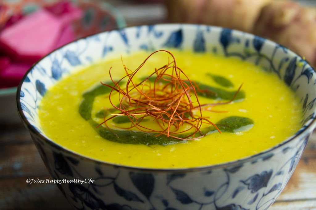 Gesunde Topinambur Safran Suppe Rezept