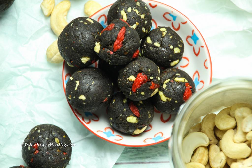 Veganer Snack für zwischendurch - Protein Energie Schoko Kugeln