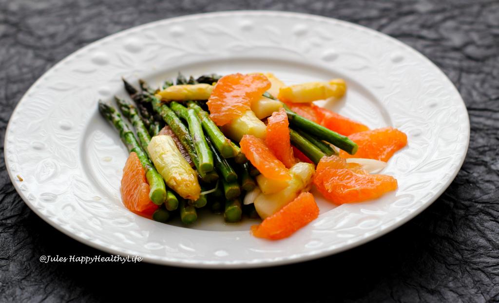 Rezept für Spargel Grapefuit Salat mit Zitrus Asia Dressing