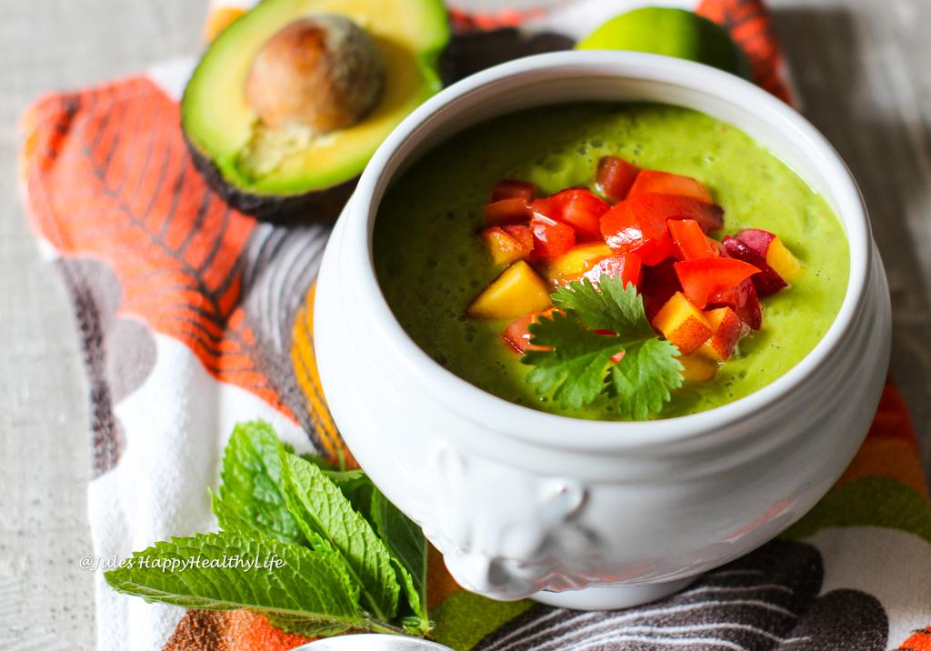 Schnelles Rezept für den Sommer - Kalte Avocado Pfirsich Suppe