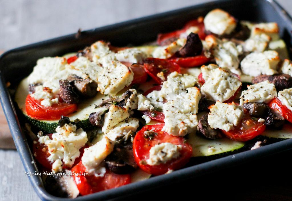Rezept für schnellen Gemüseauflauf mit Feta Käse
