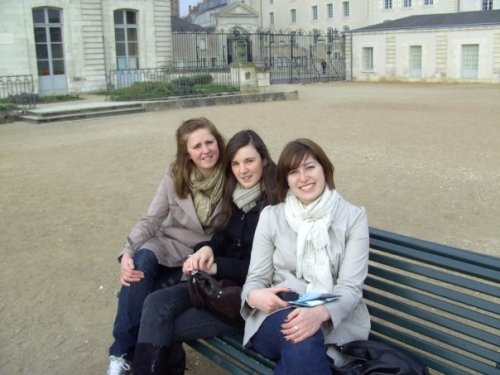 Me and the girls in Blois, Loire Valley