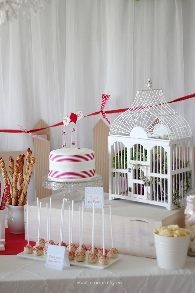 Nice Party cumpleaños Mary Poppins mesa de dulces