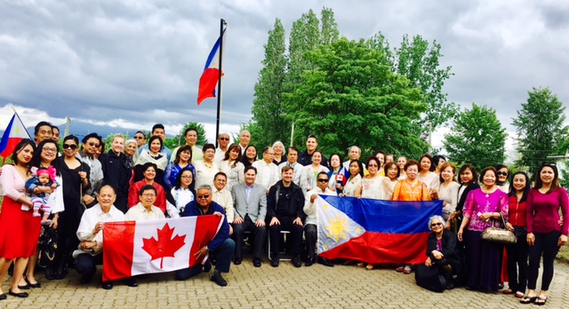 Flag raising at Filipino plaza hosted by UFCABC guests MP Don Davies, MLA Mable Elmore and Consulate representative Vice Consul Anthony Mandap around 75 community leaders attended. 1st of the 4 events of UFCABC, 2nd will be the Gala Night on June 17 at Westin Bayshore, 3rd Pista ng Bayan at Memorial Park, Vancouver and 4th Mindanao Tapestry Fashion Show by Renee Salud on August and the venue to be announce later. UFCABC Officers: