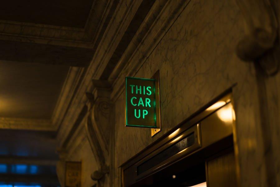 elevator signage