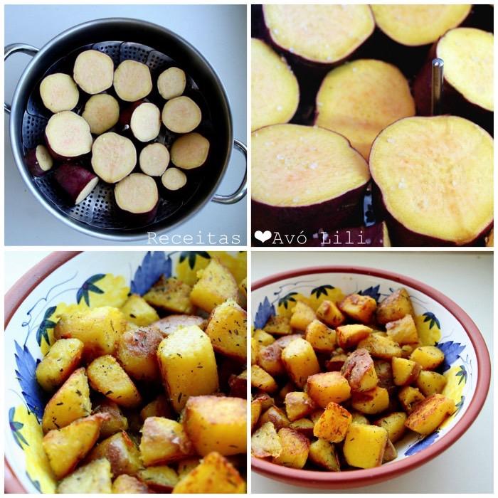 Batatas Doces Salteadas