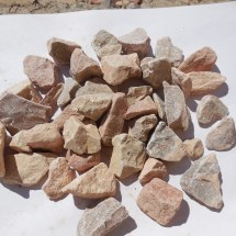 "1"" Tri-Colored Limestone with Red, White, and Grey"